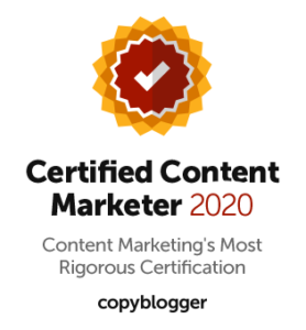 Certified Content Marketer by Copyblogger